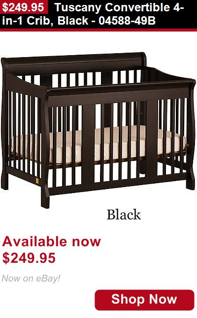Nursery Furniture Sets: Tuscany Convertible 4-In-1 Crib, Black - 04588-49B BUY IT NOW ONLY: $249.95