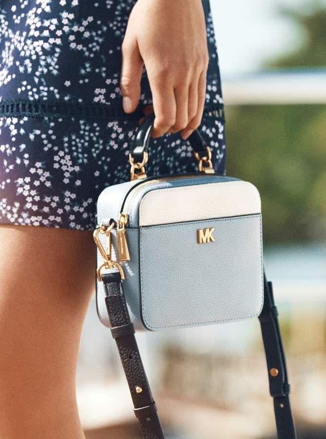 Mott Mini Color Block Pebbled Leather Crossbody Michael Kors Handbags Michael Kors Tote Bag Leather Bags