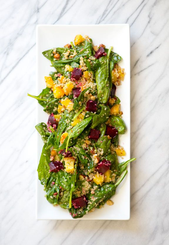 Spinach, Beet And Quinoa Salad