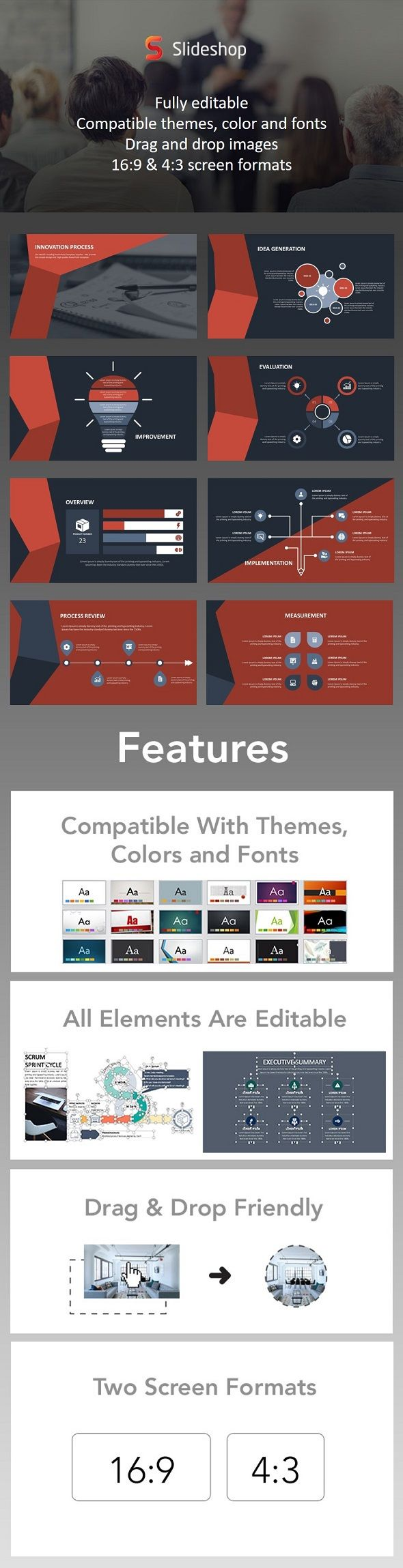 7 best free powerpoint templates on behance images on pinterest innovation process animation red alramifo Gallery