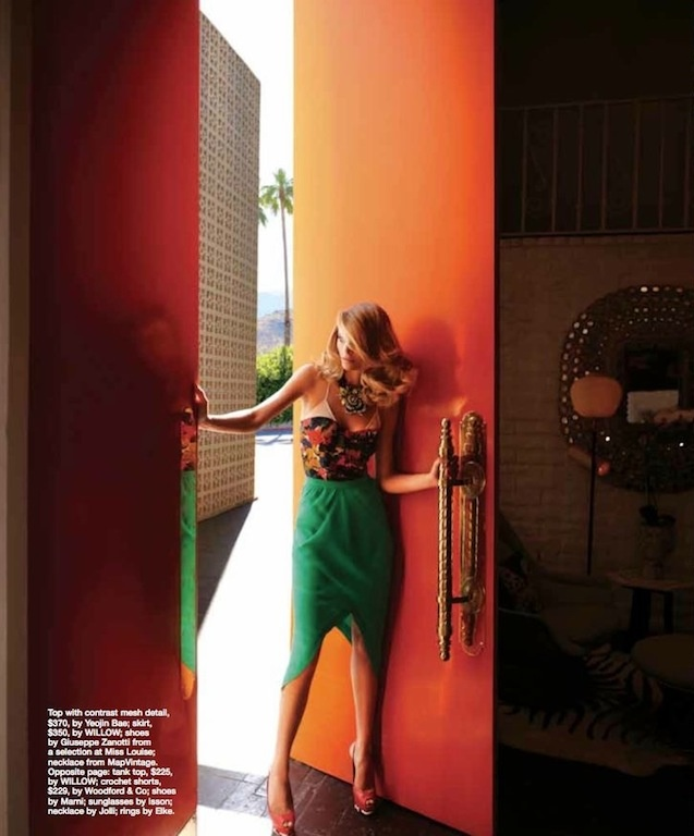 """Endless Summer"": Fabiana Semprebom in Palm Springs by Troyt Coburn for Marie Claire Australia"