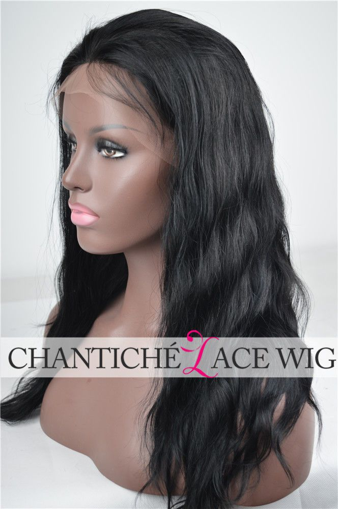 6A Human Hair Lace Front/Full Wigs African Americans Brazilian Remy Natural Wave