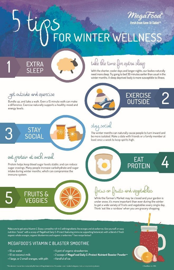 5 tips to stay healthy in the winter months!
