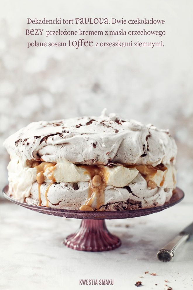 chocolate pavlova with peanut butter mascarpone salted peanuts & toffee…