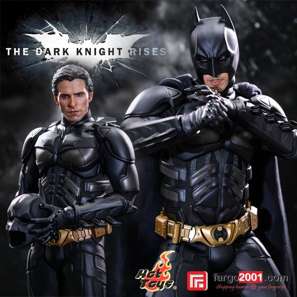 """It's not who I am underneath, but what I do that defines me."" - Bruce Wayne. fargo2001.com presents Hot Toys Batman Action Figure from The Dark Night Rises Movie. Various choices of characters are also available ! http://goo.gl/3LWfOT"