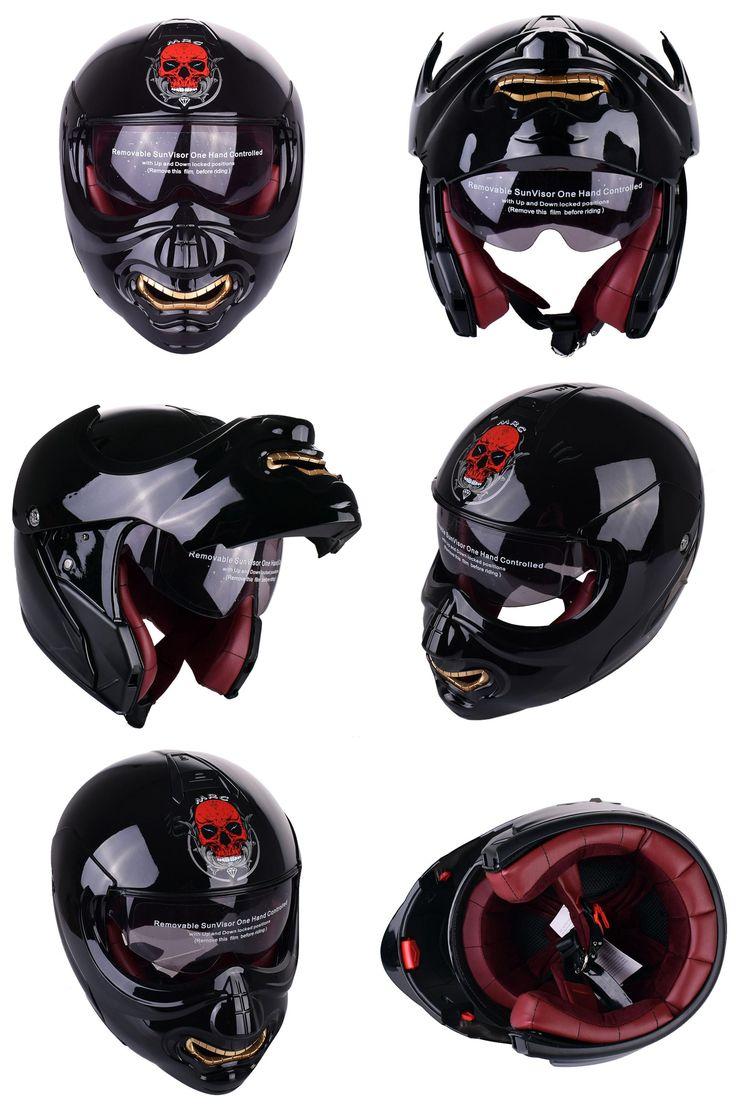 [Visit to Buy] New Monster Face Modular Motorcycle Helmet Full Face Punk Motobike Motocicleta Cacapete Casco Casque Kask Moto Flip up Helmets #Advertisement