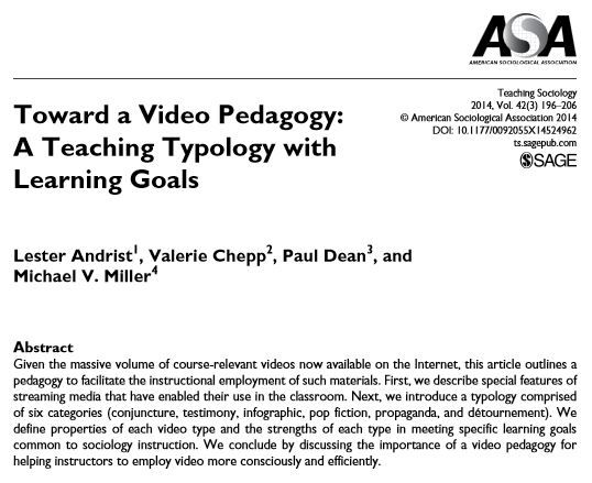 Sociology research articles