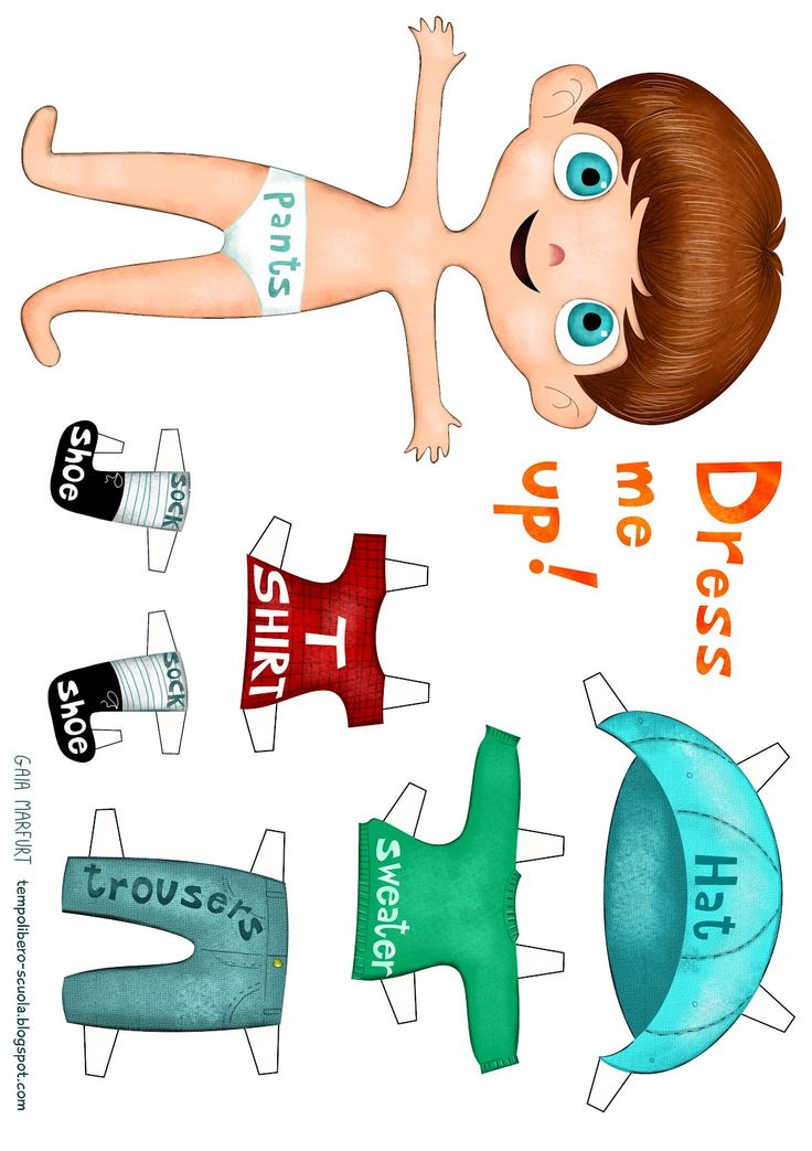 Dress me up-english learning with a paperdoll