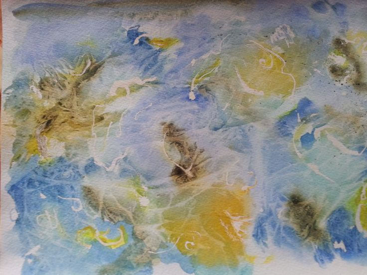 Abstract in water colour by Gayner Vlastou
