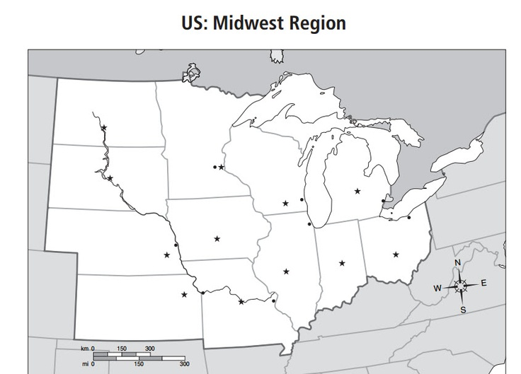 Best SS Midwest Region Images On Pinterest School Stuff - Us map midwest region