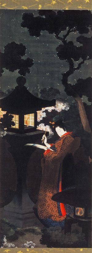 葛飾応為《夜桜美人図》抒情と科学の暗闇──「安村敏信」:アート・アーカイブ探求 美術館・アート情報 artscape