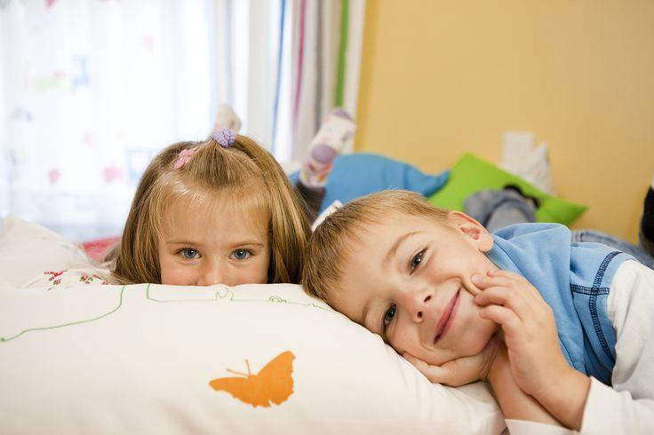 Schwerentflammbare drapilux Stoffe auch im Kindergarten.
