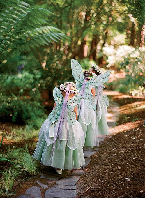 88 best images about flowergirls on pinterest for Woodland fairy wedding dress