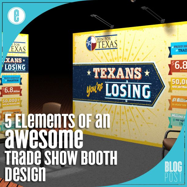 5 Elements of an Awesome Trade Show Booth Design http://www.envision-creative.com/5-elements-of-an-awesome-trade-show-booth-design/ #Tradeshow #Booth #Design
