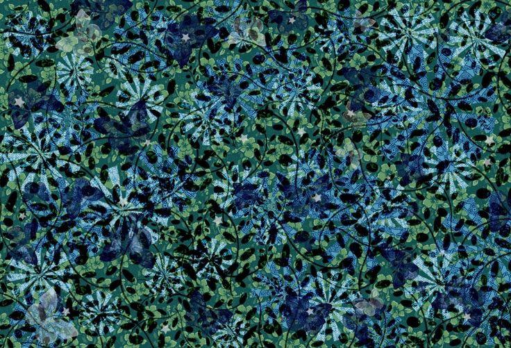 BLUE VINES - created by Amanda Osborne Fabric Pattern