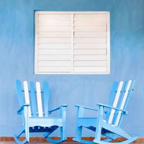 Traditional Rocking Chairs in Vinales, Cuba, Caribbean Photographic Print by Nadia Isakova at AllPosters.com