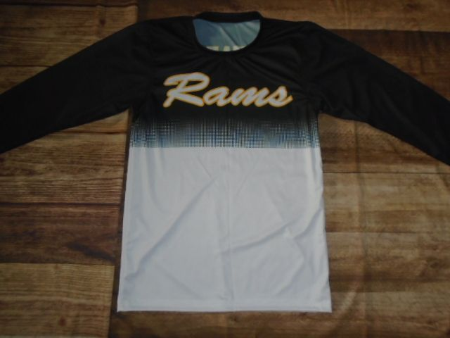 Take a look at this custom shooting shirt designed by Rams Basketball and created at Universal Athletic Missoula! Create your own custom uniforms at www.garbathletics.com!