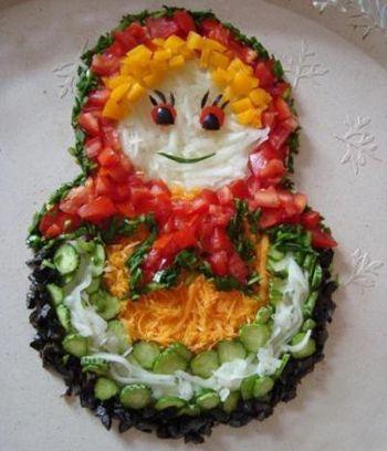 салат из овощей для деток