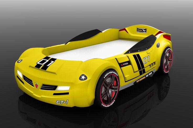 Yellow car. Желтая кровать-машинка.