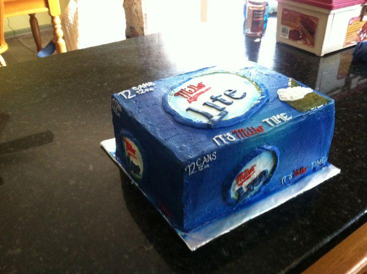 miller lite groom's cake