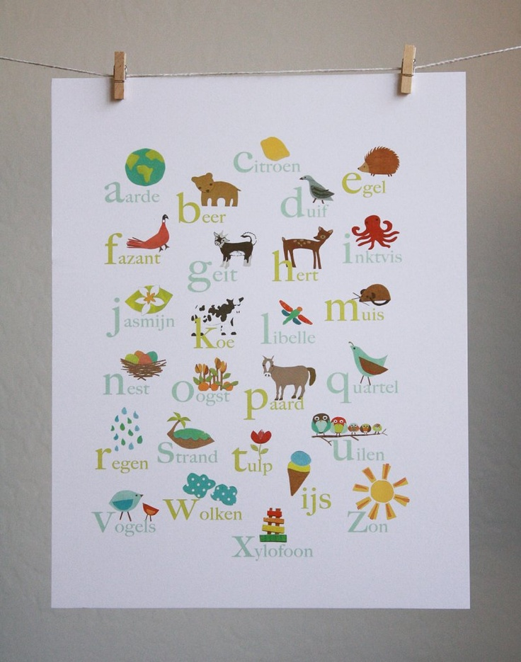 Dutch ALphabet Poster Children Inspire Design