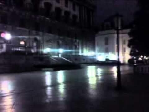 Nachtflug Wien Innenstadt. -