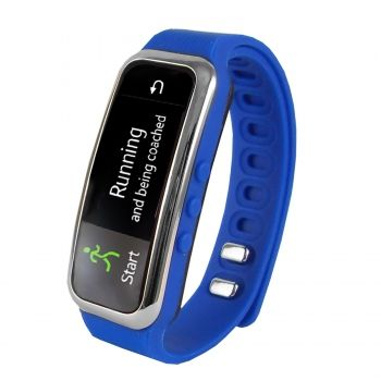 "Supersonic 0.91"""" Fitness Wristband With Bluetooth Pedometer, Calorie Counter and More-Blue"
