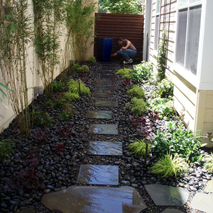 Landscaping Ideas For Long Narrow Backyards | Garden Ideas ... on Long Narrow Backyard Design Ideas id=25256