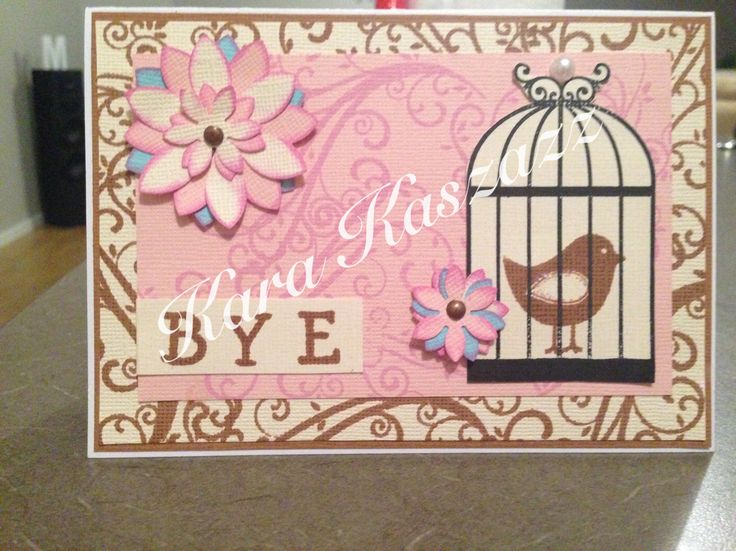 Kaszazz Bird Cage Card inspired by Belinda Oldaker www.facebook.com/kara.kaszazz