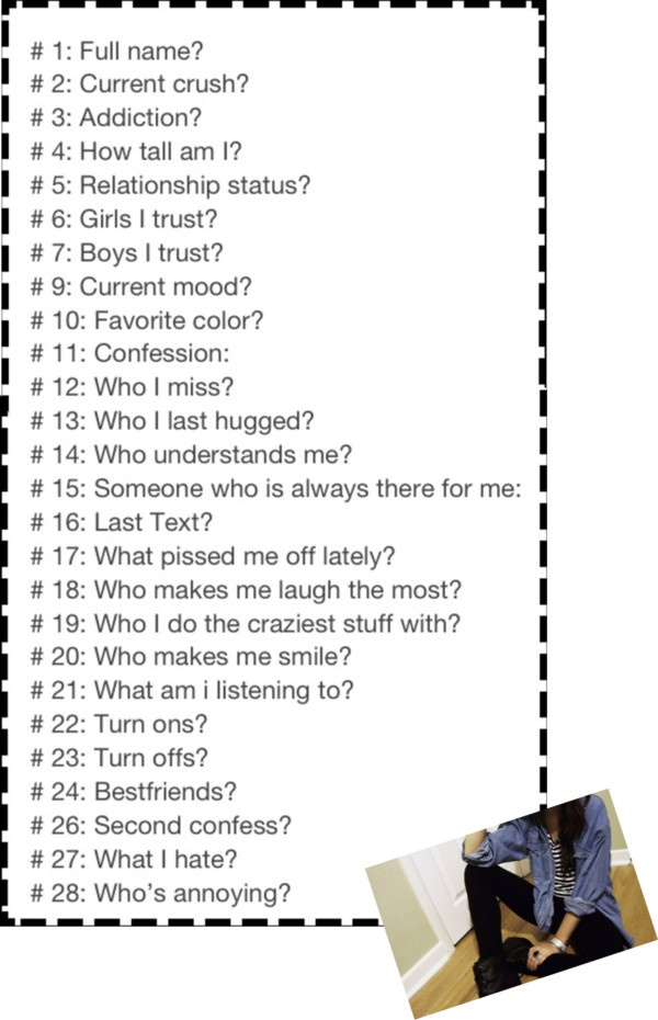 Sorry Disney for stealing your idea I just am so bored because school is over I will answer all but 1. Which I will change to what's your middle name?