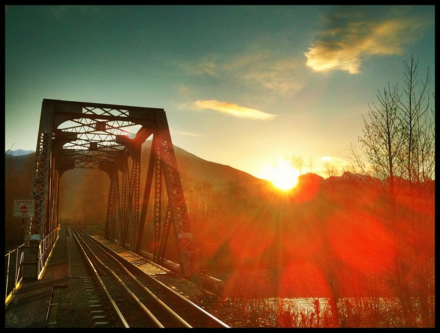 Train Bridge. One of my dog walk favorite photo subjects. A little iPhone HDR and Camera+