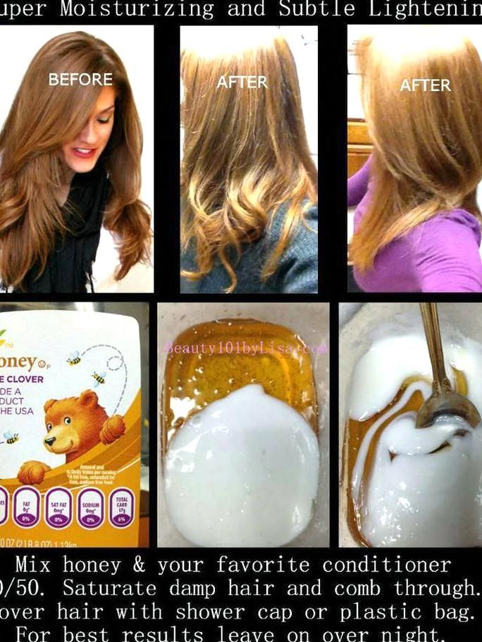 Diy At Home Hair Bleaching At Home Hair Lightening At Home Hair Coloring Honey And Conditioner Natural In 2020 How To Lighten Hair At Home Hair Color Damp Hair Styles