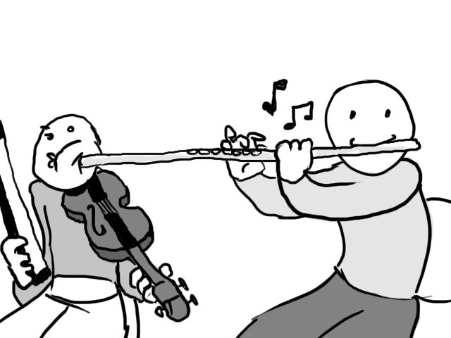 Cartoons inspired by spam email subject lines | Get a bigger flute