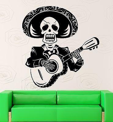 Wall Sticker Vinyl Decal Singer Mariachi Mexico Latin America Music Unique Gift (ig1994)