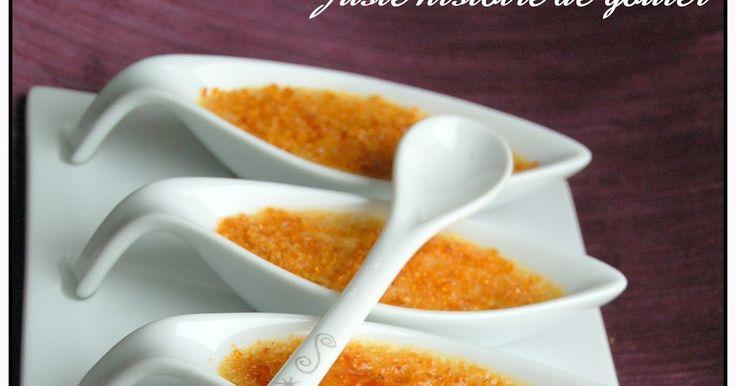 Voilà une mise en bouche très raffinée ettrès rapide à préparer ... un délice pour lesconnaisseurs de foie gras.   Ces mini-crèmes brûlé...