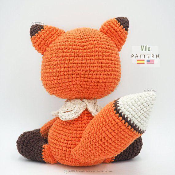 Alan Craft Crochet Diy: Zorro Amigurumi a Crochet - Patrón Escrito ... | 570x570