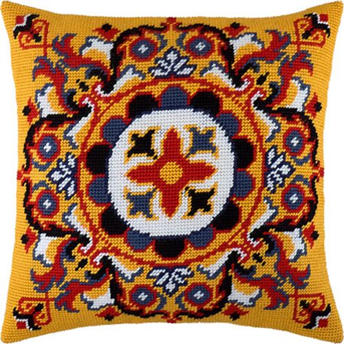 Blooming Twigs #pillowcase #cross_stitch #DIY #embroidery_kit #needlework