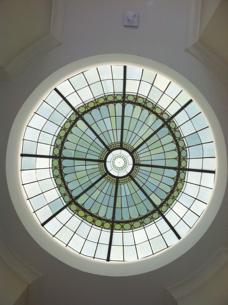 Fuax stained glass Dome.     www.dwcustommurals.com, Dream Walls Murals and Faux Finish, By Artist Alfredo Montenegro