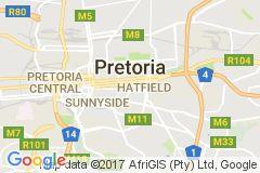 Map of Pretoria, South Africa