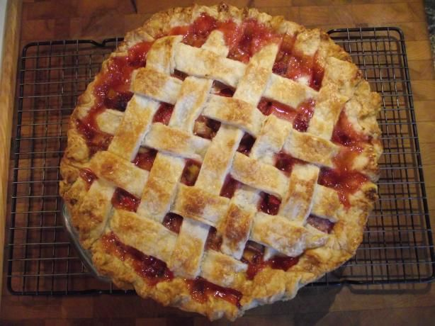 Strawberry Rhubarb Pie Recipe - Food.com (1/4 cup + 1 tbs of cornstarch or arrowroot) (very good pie!)
