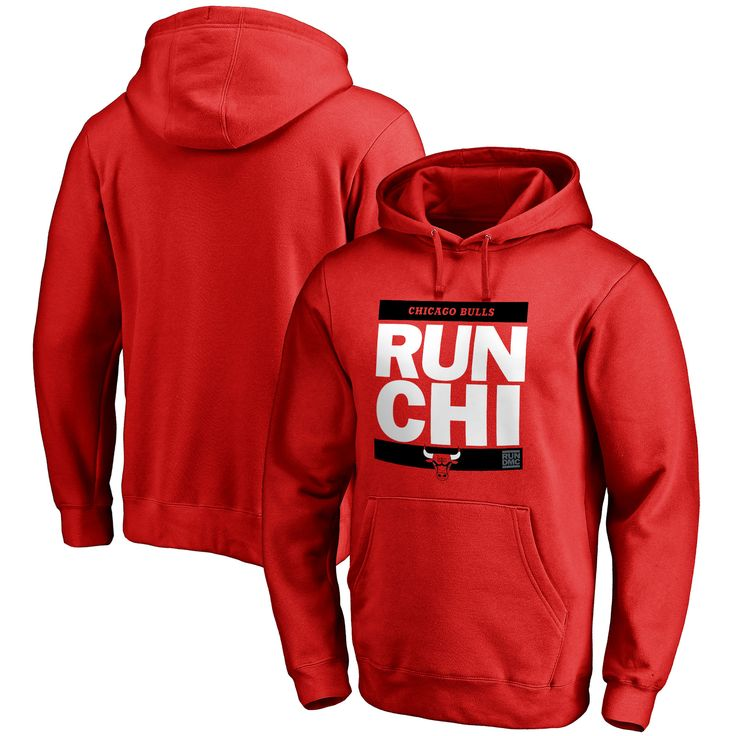 Chicago Bulls RUN-CTY Pullover Hoodie - Red