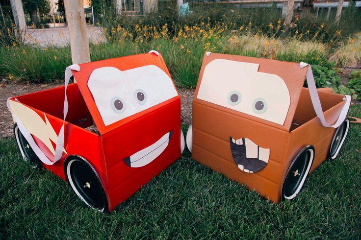 Lightning McQueen & Mater Box Car Costumes