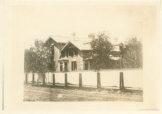 The house on Spadina Avenue, Toronto, Ontario, where Dr. James Bovell once lived. Dr. Bovell exerted a great influence on the young William Osler, acting as medical director of Trinity College School, Professor of Natural Theology at Trinity College, and lecturer on physiology and pathology at the Toronto Medical School during Osler's time at all three institutions.