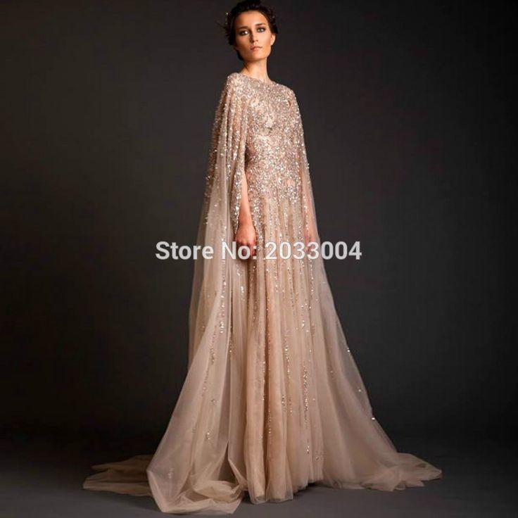 Kaftan Evening Dresses 2016 Lebanon Custom Made Women Prom Crystal Saudi Arabia Long Arab Abaya Dress Dubai