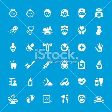 Pediatrician and Healthcare iconset