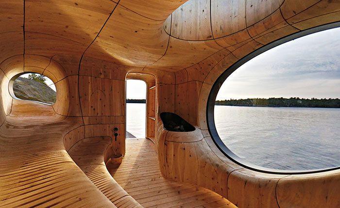 Cozy Lakeside Saunas
