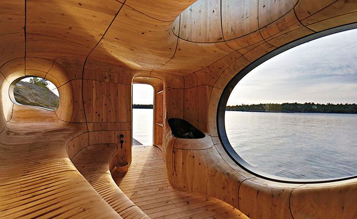 Cozy Lakeside Saunas