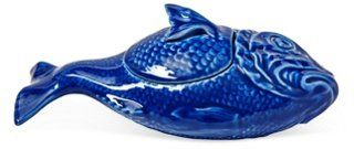 OMG, Love these! $17 @Joss & Main  Hand-Painted Fish Personal Tureen, Blue