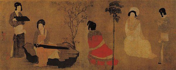 Zhou_Fang._Court_Ladies_Tuning_the_Lute_(28x75)_Nelson-Atkins_Museum_of_Art,_Kansas_City