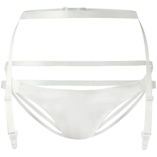 Ikonostas Suspender Belt Briefs ($149) ❤ liked on Polyvore featuring intimates